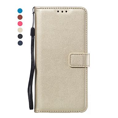 Недорогие Чехлы и кейсы для Galaxy A3-Кейс для Назначение SSamsung Galaxy A5(2018) / A6 (2018) / Galaxy A7(2018) Кошелек / Бумажник для карт / Флип Чехол Однотонный Кожа PU / ТПУ