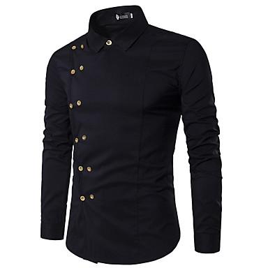 povoljno Muška moda-Majica Muškarci Dnevno Jednobojni Crn