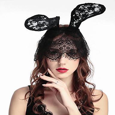 povoljno Dekoracija doma-halloween party show rekviziti headdress zečje uši šišanje