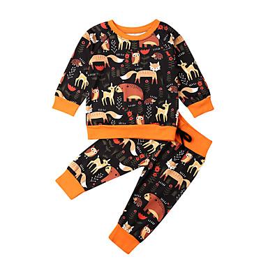 voordelige Baby Jongens kledingsets-Baby Jongens Actief Print Print Lange mouw Lang Lang Kledingset