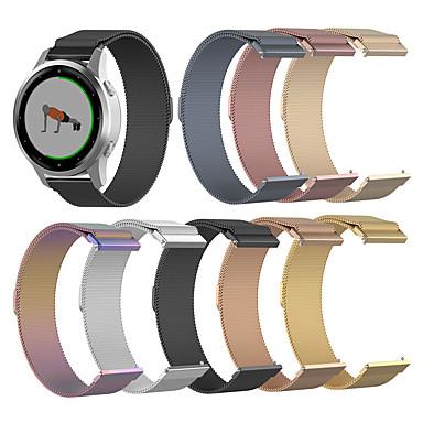 voordelige Smartwatch-accessoires-milanese lusriem voor garmin vivoactive 4s roestvrij stalen armband