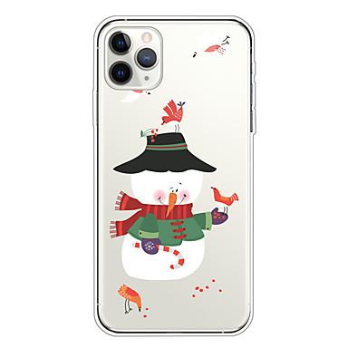 Недорогие Кейсы для iPhone-С Рождеством ТПУ чехол для Apple, Iphone 11 / Iphone 11 Pro / Iphone 11 Pro Макс шаблон задняя крышка