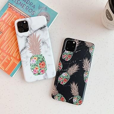 Недорогие Кейсы для iPhone-Кейс для Назначение Apple iPhone 11 / iPhone 11 Pro / iPhone 11 Pro Max Покрытие / IMD / С узором Кейс на заднюю панель Плитка / Продукты питания / Мрамор ТПУ