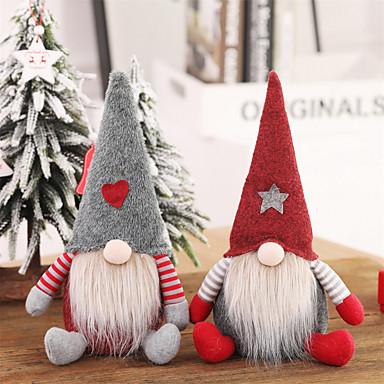 olcso Lakberendezés-Mikulás karácsonyi díszek arctalan baba gnóma plüss otthoni dekoráció újévi ajándék