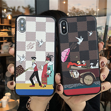 voordelige iPhone 6 Plus hoesjes-hoesje Voor Apple iPhone 11 / iPhone 11 Pro / iPhone 11 Pro Max Mat / Reliëfopdruk / Patroon Achterkant Cartoon TPU