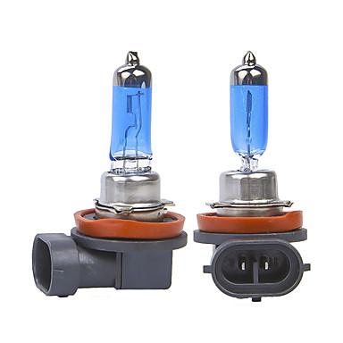 Недорогие Дневные фары-Автомобильный свет h8 h11 авто галогеновая лампа противотуманные фары 55 Вт 100 Вт 12 В супер белые фары лампы