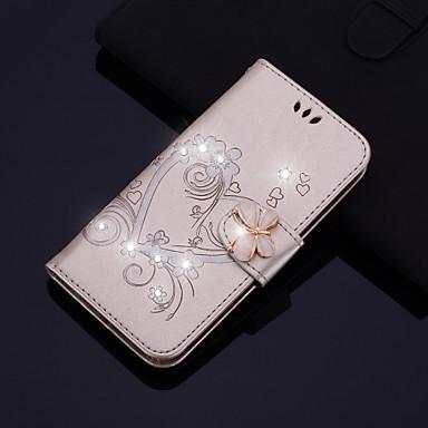 voordelige iPhone 5 hoesjes-hoesje voor Apple iPhone 11 11 pro 11 pro max x max xr xs x 8 plus 8 7 plus 7 6s plus 6s se 5s 5 flip / reliëf / strass / patroon full body hoesjes hart pu leer