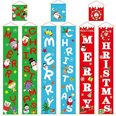 abordables Decoración del Hogar-Decoración Navidad / Vacaciones Tejido Cuadrado Fiesta Decoración navideña