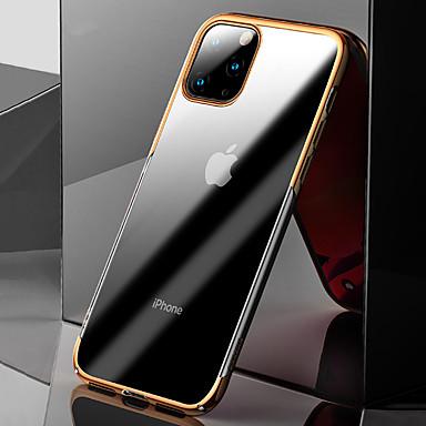 Недорогие Кейсы для iPhone-Кейс для Назначение Apple iPhone 11 Pro Max Защита от удара / Покрытие / Ультратонкий Кейс на заднюю панель Прозрачный ТПУ