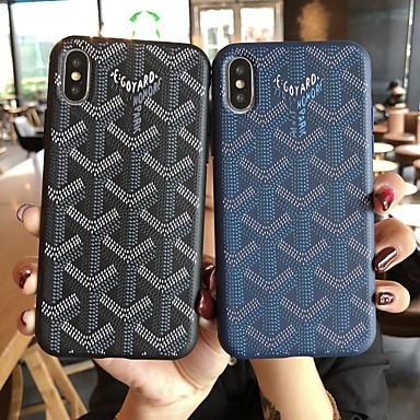 voordelige iPhone 6 Plus hoesjes-hoesje Voor Apple iPhone 11 / iPhone 11 Pro / iPhone 11 Pro Max Mat / Reliëfopdruk / Patroon Achterkant Geometrisch patroon TPU