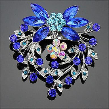 نسائي مكعب زركونيا دبابيس هندسي بدل سانتا أنيق بروش مجوهرات أزرق من أجل عيد الميلاد مناسب للبس اليومي