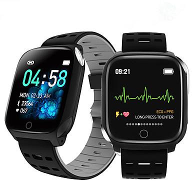 ieftine Ceasuri Bărbați-f16 brățară inteligentă bandă ecg ritm cardiac tensiune arterială oxigen somn monitorizare fitness tracker ceas impermeabil inteligent
