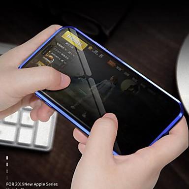 Недорогие Кейсы для iPhone X-Кейс для Назначение Apple iPhone 11 / iPhone 11 Pro / iPhone 11 Pro Max Защита от пыли / Зеркальная поверхность / Ультратонкий Чехол Прозрачный Закаленное стекло / Металл