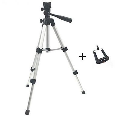 Недорогие Bluetooth палка для селфи-Профессиональный складной штатив держатель камеры винт 360 градусов жидкостная головка штатив стабилизатор алюминий с держателем телефона