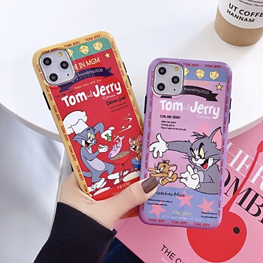 voordelige iPhone-hoesjes-hoesje Voor Apple iPhone 11 / iPhone 11 Pro / iPhone 11 Pro Max Schokbestendig Achterkant Cartoon silica Gel