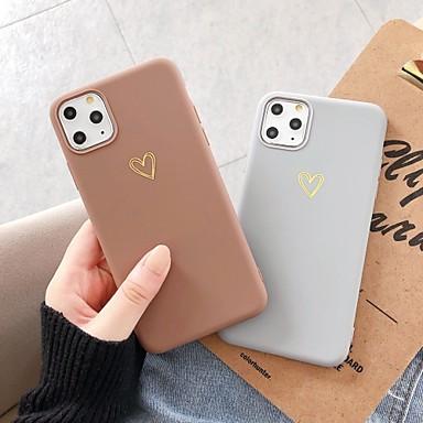 Недорогие Кейсы для iPhone-чехол с защитной пленкой для яблока iphone 11 / iphone 11 pro / iphone 11 pro max пылезащитная задняя крышка в виде сердца, тпу для iphone 7/7 p / 8/8 p / 6/6 plus / x / xs / xr / xs max