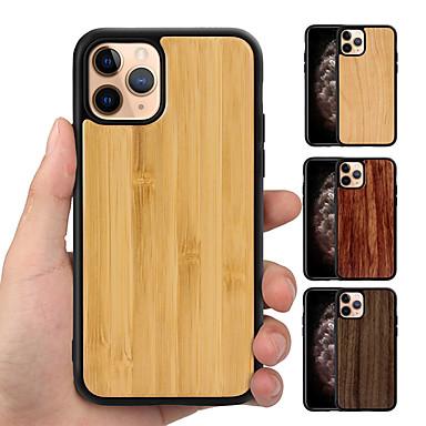 Недорогие Кейсы для iPhone-реальный чистый деревянный задний анти-осень тпу гибридный телефон чехол для iphone 11 pro max xr xs max x 8 плюс 7 плюс 6 плюс