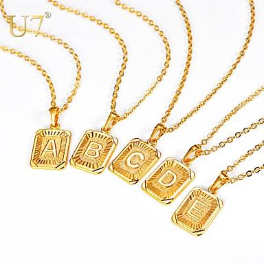 رخيصةأون القلائد-رجالي نسائي قلائد الحلي عقد قلادة سحر X رسالة بسيط موضة مجوهرات الأولية نحاس ذهبي فضي 55 cm قلادة مجوهرات 1PC من أجل تخرج هدية مناسب للبس اليومي مهرجان