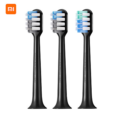 olcso Fogápolás-dr.bei elektromos fogkefefej (fekete / lila) 3 darab férfiak és nők számára könnyű és kényelmes szájhigiéniát