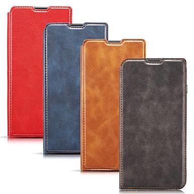 Недорогие Кейсы для iPhone 7-Кейс для Назначение Apple iPhone 11 / iPhone 11 Pro / iPhone 11 Pro Max Бумажник для карт / Защита от удара / со стендом Чехол Однотонный Кожа PU
