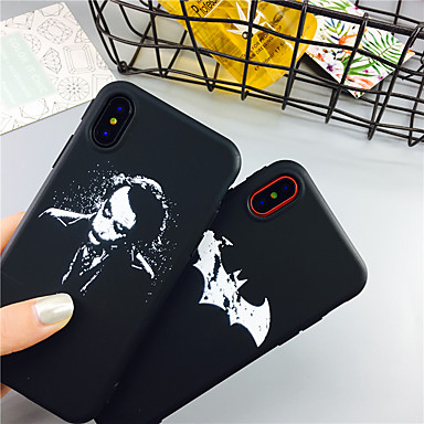 voordelige iPhone-hoesjes-schedel cartoon TPU case voor Apple iPhone 11 pro max 8 plus 7 plus 6 plus max patroon achterkant