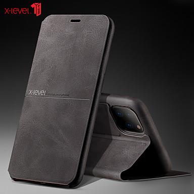 voordelige iPhone-hoesjes-hoesje Voor Apple iPhone 11 / iPhone XR / iPhone XS Max Schokbestendig / Flip Volledig hoesje Tegel PU-nahka