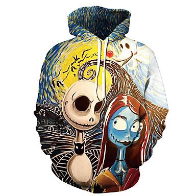 رخيصةأون كنزات هودي رجالي-هوديي رجالي 3D Halloween