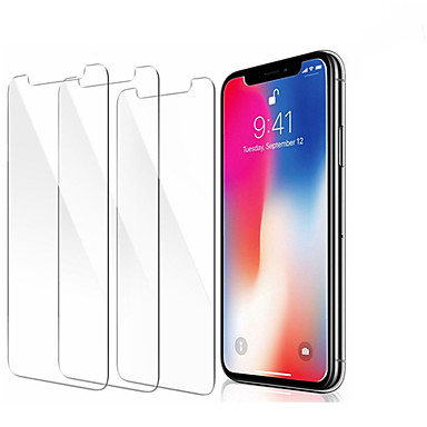 voordelige iPhone XS Max screenprotectors-3 stks screenprotector gehard glas voor iPhone 11 pro x xr xs max screen protector film telefoon
