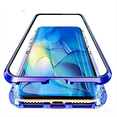 Недорогие Чехлы и кейсы для Galaxy Note-двухсторонний магнитный чехол для samsung galaxy s9 / s9 plus / s8 plus пыленепроницаемый / зеркальный / ультратонкий чехол для всего тела прозрачное закаленное стекло / металл