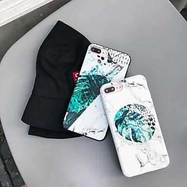 voordelige iPhone X hoesjes-marmeren plant tpu case voor Apple iPhone 11 pro max 8 plus 7 plus 6 plus max patroon achterkant