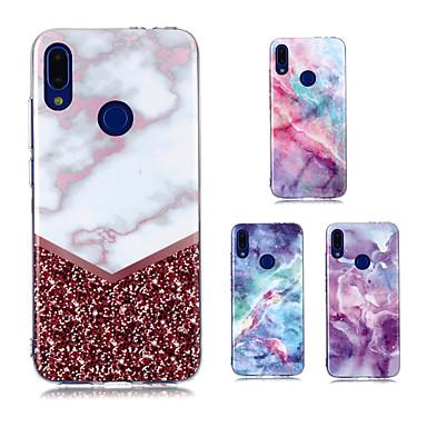 رخيصةأون حافظات / جرابات هواتف جالكسي A-غطاء من أجل Samsung Galaxy A6 (2018) / Galaxy A7(2018) / A8 2018 IMD / نموذج غطاء خلفي حجر كريم TPU