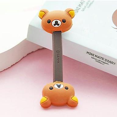 olcso Kábelek & adapterek-barna medve kicsi méretű / szép játék alakú kábeltartó