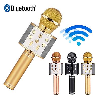 olcso Mikrofonok-ws858 mikrofon vezeték nélküli bluetooth karaoke mikrofon usb ktv lejátszó mobiltelefon lejátszó mikrofon hangszóró zene felvétel