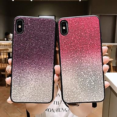 voordelige iPhone-hoesjes-hoesje Voor Apple iPhone 11 / iPhone 11 Pro / iPhone 11 Pro Max Strass / Glitterglans Achterkant / Volledig hoesje Tegel / Glitterglans TPU / silica Gel