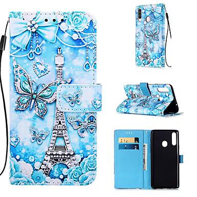 voordelige Galaxy A-serie hoesjes / covers-case voor samsung galaxy a50s a30s telefoon case pu lederen materiaal geschilderd patroon telefoon case voor a20s a10s a10 a20 a30 a40 a50 a70 a7 2018