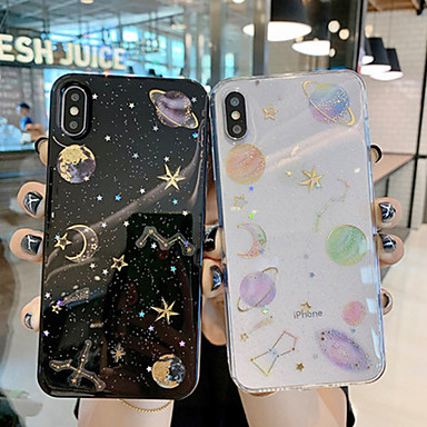 voordelige iPhone X hoesjes-creative star apple 11pro max mobiele shell alle mannen en vrouwen nieuwe 11 pro mobile shell 11 all inclusive drop soft shell xs max transparant siliconen xr netto rood met 6/7 / 8p schaal