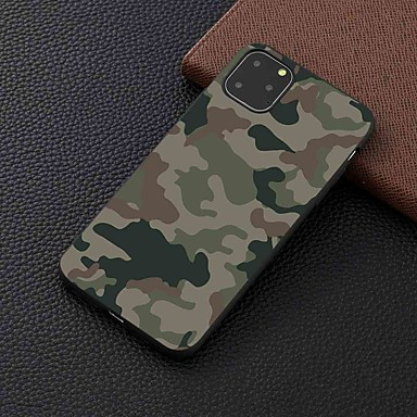 voordelige iPhone 8 hoesjes-hoesje voor Apple iPhone 11/11 pro / 11 pro max frosted / patroon achterkant camouflage tpu voor iphone 6/6 s plus / 7/7 plus / 8/8 plus / x / xs / xr / xs max
