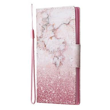 voordelige Galaxy Note-serie hoesjes / covers-hoesje Voor Samsung Galaxy Note 9 / Note 8 / Galaxy Note 10 Portemonnee / Kaarthouder / met standaard Volledig hoesje Marmer PU-nahka