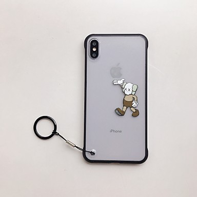 voordelige iPhone-hoesjes-hoesje Voor Apple iPhone XS / iPhone XR / iPhone XS Max Schokbestendig / Ultradun / Doorzichtig Achterkant Spelen met Apple-logo / Cartoon TPU