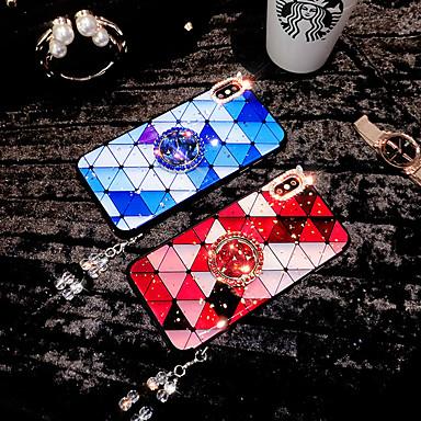 זול מגנים לאייפון-מארז עבור apple iphone xs / iphone xr / iphone xs מקסימום / 7 8 פלוס / 6 plus / 6 ריינסטון כיסוי אחורי אקריליק בצבע אחיד