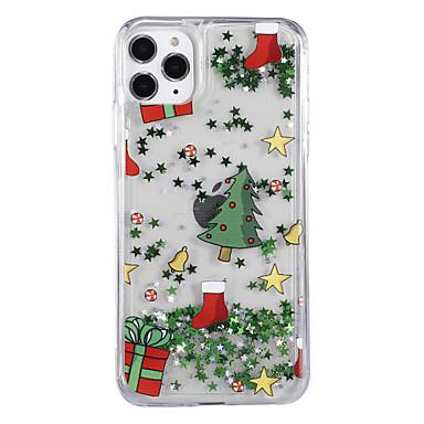 voordelige iPhone-hoesjes-hoesje Voor Apple iPhone XS / iPhone X / iPhone 8 Plus Stromende vloeistof / Patroon / Glitterglans Achterkant Boom / Kerstmis PC