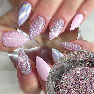 1 buc Paiete / Pulbere cu sclipici / Glitter de unghii Elegant & Luxos / Strălucitor & Sclipitor Nail Art Design