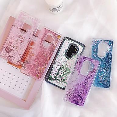 hoesje Voor Samsung Galaxy S9 / S9 Plus / S8 Plus Stromende vloeistof / Patroon / Glitterglans Achterkant Transparant TPU