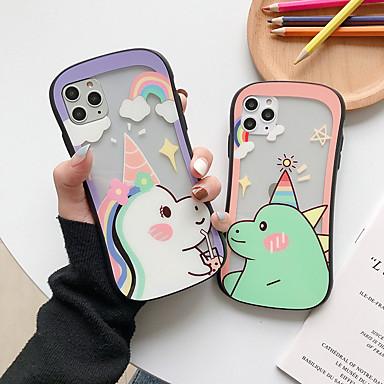 voordelige iPhone 6 Plus hoesjes-hoesje Voor Apple iPhone 11 / iPhone 11 Pro / iPhone 11 Pro Max Transparant / Patroon Achterkant Transparant / Cartoon TPU