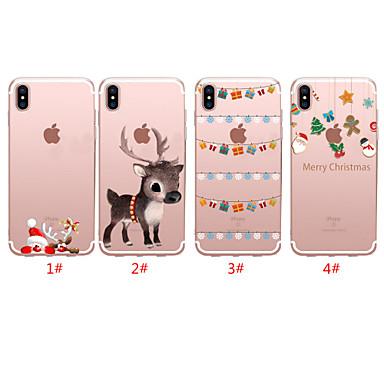 voordelige iPhone-hoesjes-hoesje Voor Apple iPhone 11 / iPhone 11 Pro / iPhone 11 Pro Max Doorzichtig / Patroon Achterkant Kerstmis TPU