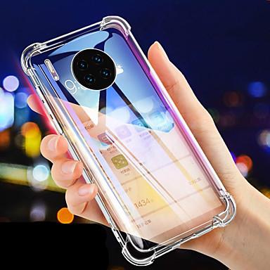 voordelige Huawei Mate hoesjes / covers-luxe schokbestendige siliconen telefoonhoes voor Huawei mate 30 pro mate 30 lite mate 20 pro mate 20 lite mate 10 pro hoesjes transparante bescherming achterin