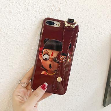 voordelige iPhone X hoesjes-hoesje Voor Apple iPhone 11 / iPhone 11 Pro / iPhone 11 Pro Max met standaard / Ringhouder / Ultradun Achterkant Woord / tekst / Cartoon TPU