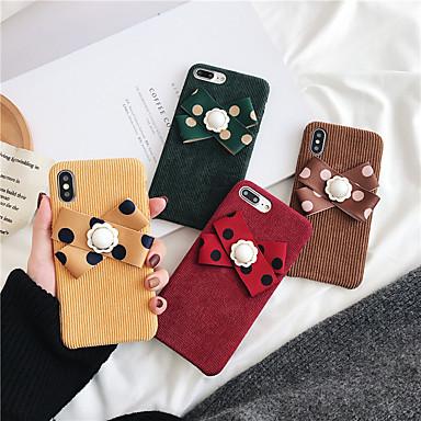 voordelige iPhone-hoesjes-hoesje Voor Apple iPhone XS / iPhone XR / iPhone XS Max Schokbestendig / Stofbestendig Achterkant Effen / Pluche tekstiili / TPU / Kumi