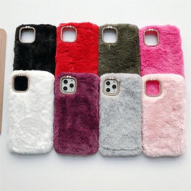 voordelige iPhone 5S/SE-hoesjes-hoesje Voor Apple iPhone 11 / iPhone 11 Pro / iPhone 11 Pro Max Strass Achterkant Pluche TPU
