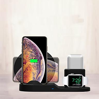 رخيصةأون شواحن لاسلكية-الوضع الخاص الجديد تشى اللاسلكية شحن الوسادة 3 في 1 شاحن لاسلكي سريع حامل حصيرة قفص الاتهام ل airpods / iphone و android و apple watch و series series